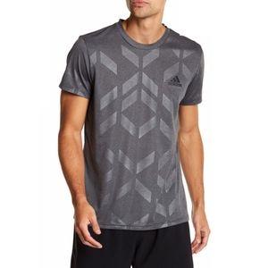 NWT Adidas Chevron T Tee Shirt Climalite Gray NEW